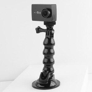 Image 2 - 흡입 컵 GoPro 영웅을위한 자동차 마운트 8 7 6 5 4 Insta360 Yi 4k Go pro 카메라 SJcam SJ4000 DJI AKASO EKEN with Safety Tether