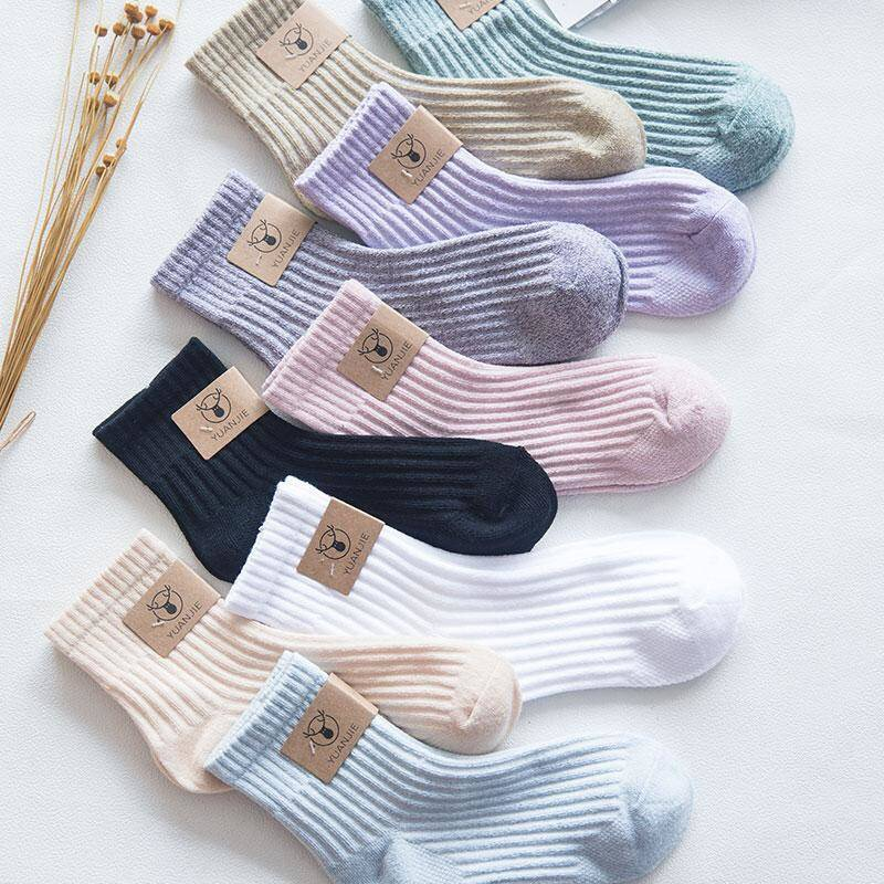 5pc/lot Women Socks High Quality Cotton Sox Japanese Fashion Style Socks Autumn Winter Warm Socks For Lady Girls