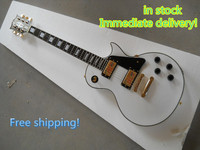 New Style 50th Anniversary 1960 LP Classical White Custom Electric Guitar Free Shipping