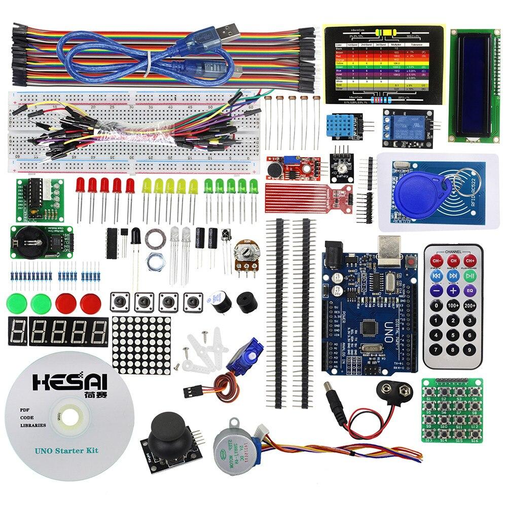 RFID Kit de arranque UNO R3 KIT versión mejorada de la RFID aprender Suite Compatible con UNO R3 con tutoriales