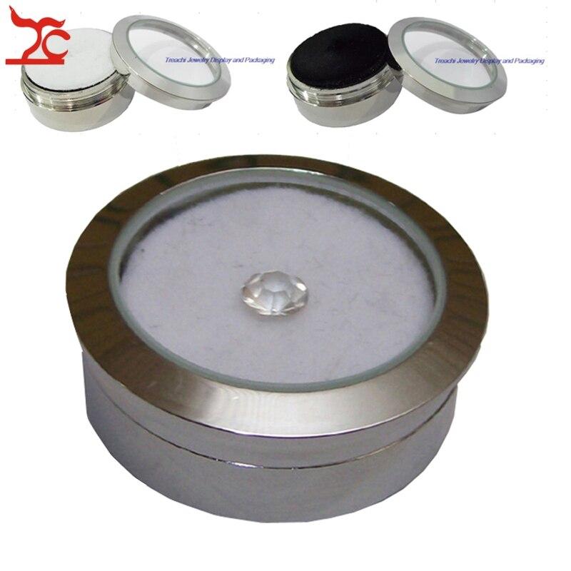 Big sale 50Pcs Metal Jewelry Display Box Gem Diamond Storage Box with DoubleSide Usage Sponge Bead/Stud Earring Display Box