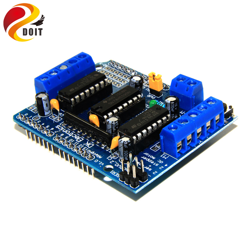 US $2 26 5% OFF|DOIT L293D Motor Control Shield Motor Drive Expansion Board  For Arduino Motor Shield RC Toy Tank Model-in Parts & Accessories from