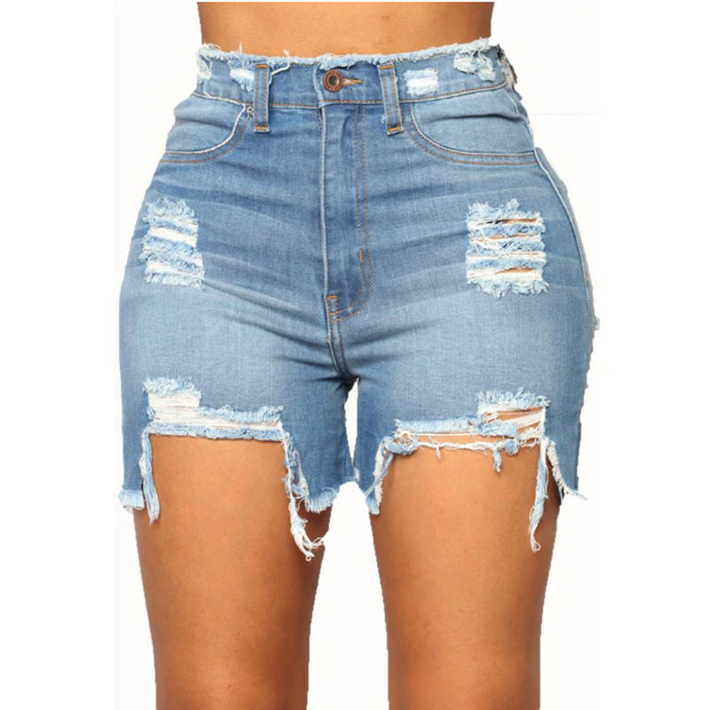 Hot sale sexy Jeans Women middle Waist Skinny Pencil Denim Pants Stretch washed Jeans women ripped shorts femme stretchable
