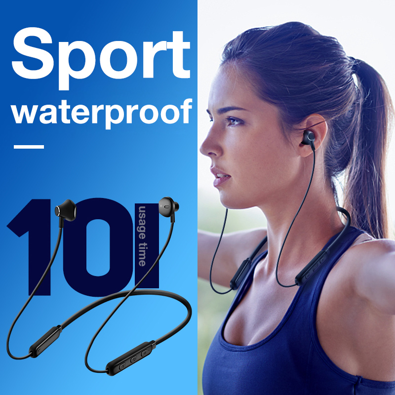 CBAOOO HWS Waterpoof Bluetooth Earphone HD Neckband Wireless Headphone Stereo Sport MIC Headset For Xiaomi iPhone earbud stereo