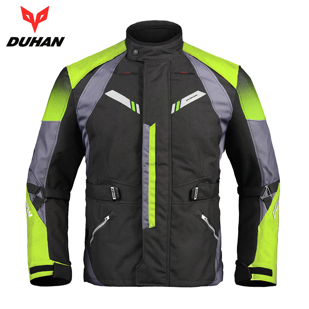 DUHAN Motorcycle Jacket Cold-proof Windproof Moto Jacket Protective Gear Armor Men Autumn Winter Motorbike Touring Clothing duhan motorcycle jacket motorcycle pants suit autumn winter cold proof waterproof touring chaqueta moto protective gear