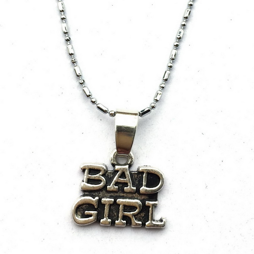 Bad Girl Necklace Naughty Girl Tough Funny Club Gift For Daughter Granddaughter In Pendant Necklaces From Jewelry Accessories On Aliexpress Com