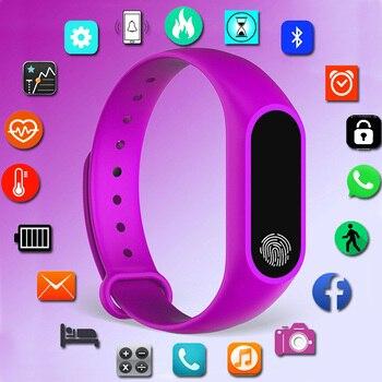 b4ea0bdc22f5 Deporte elegante reloj de pulsera de las señoras de las mujeres reloj  electrónico Digital LED relojes de pulsera para las mujeres reloj femenino  horas ...