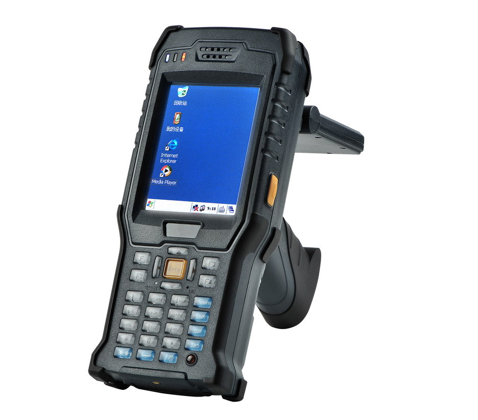 US $2500 0 |2015 new product handheld terminal RFID reader with UHF/HF/NFC  function one year warranty-in Control Card Readers from Security &