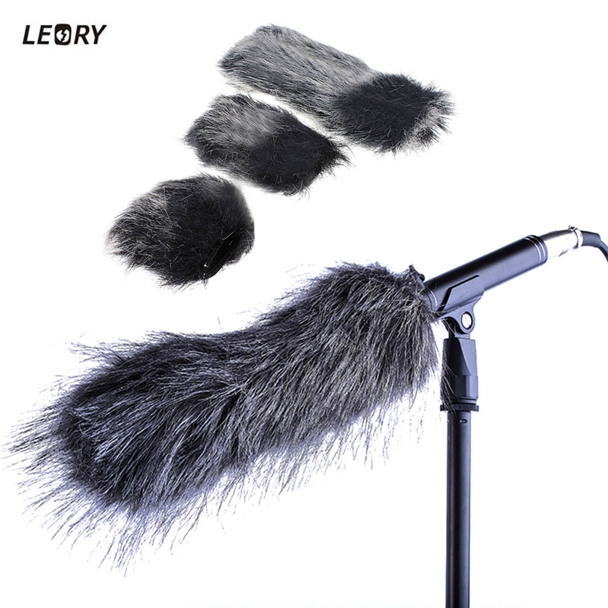 LEORY Microphone Muff Windscreen Artificial Outdoor Fur Wind Sleeve Shield Cover For Professional Mic Microphone 7cm 9.5cm 16cm