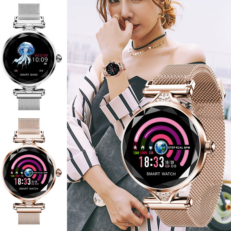 1 Pcs Women Smart Watch Bracelet Bluetooth Heart Rate Monitor Pedometer for Android iOS @M231 Pcs Women Smart Watch Bracelet Bluetooth Heart Rate Monitor Pedometer for Android iOS @M23