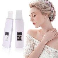 100% Wysokiej Jakości Twarzy Beauty Machine Ultradźwiękowe Płuczki Skóry Mikrodermabrazja Twarzy Masażu Spa Jonowy +