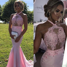 Sexy African Pink Mermaid Prom Dresses 2019 vestidos de gala Black Girl Women Backless Imported Party Dress Formal Evening Gowns велосипедная покрышка continental super sport plus 700 x 25c 25 622