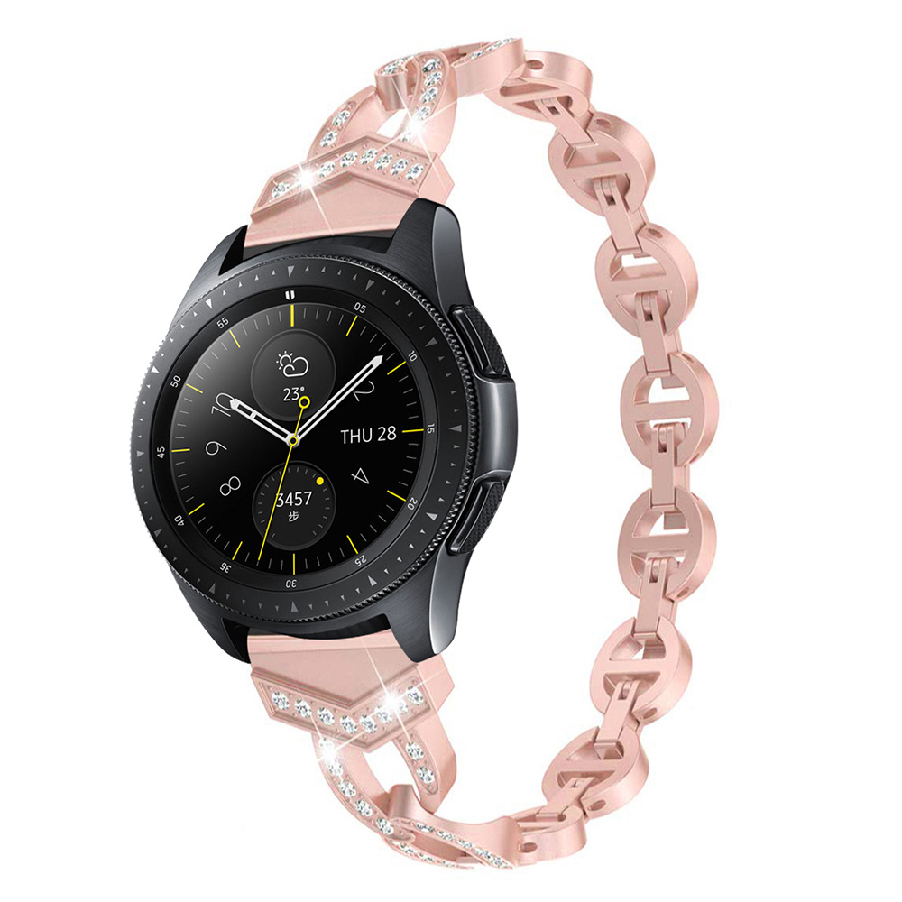 Women Diamond Bracelet for Samsung Galaxy Watch 42mm/46mm/Active 2 1 Band for Watch 3 41mm 45mm Strap Quick Release Metal Belt