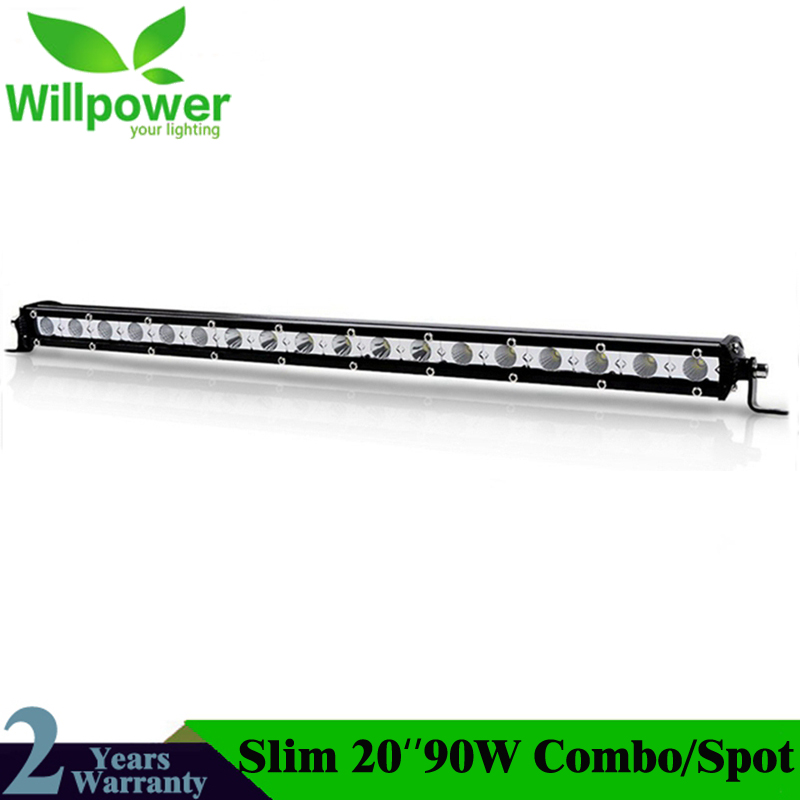 20inch 90W LED Work Light Bar With Cree Chips Extreme Slim Flood Spot Beam Auto LED Worl Lamp Bulbs For Jeep Offroad Car-Styling