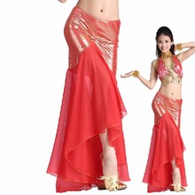 2017 Sexy Woman Belly Dance Skirt Best Quality For Indian Dancing Female Showing Fishtail Skirt Fantasia Dress Free Shipping