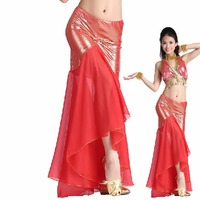 2017 Sexy Woman Belly Dance Skirt Best Quality For Indian Dancing Female Showing Fishtail Skirt Fantasia
