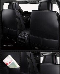 Image 4 - (Vorne + Hinten) universal leder auto sitzbezüge Für Skoda Schnelle Fabia Superb Octavia Yeti autos auto zubehör styling