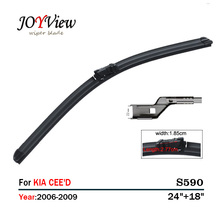 S590 Wipers Size:24+18 Fit For KIA CEED CEED(2006-2009)Wiper blade rubber replacement Ruitenwisser Limpiaparabrisas