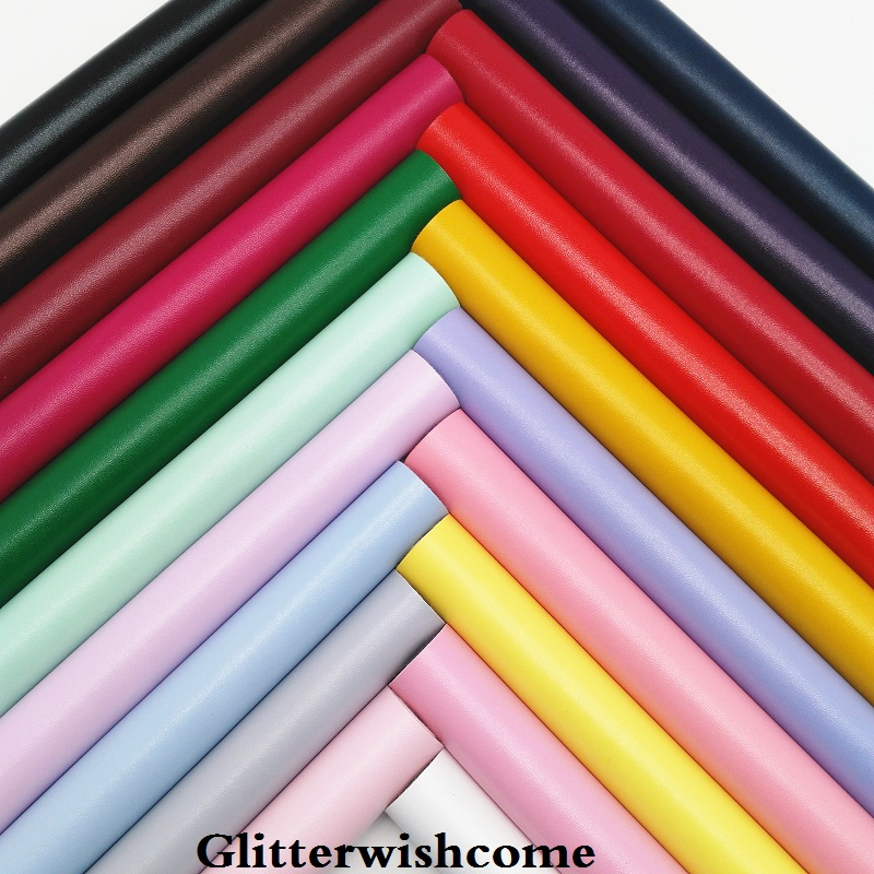 Glitterwishcome 21X29CM A4 Size Vinyl For Bows Nappa Leather Fabirc Faux Leather Sheets For Bows, GM197A