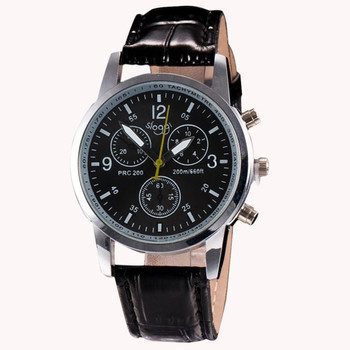 2020 Luxury Fashion Crocodile Faux Leather Mens Analog Watch Wrist Watches