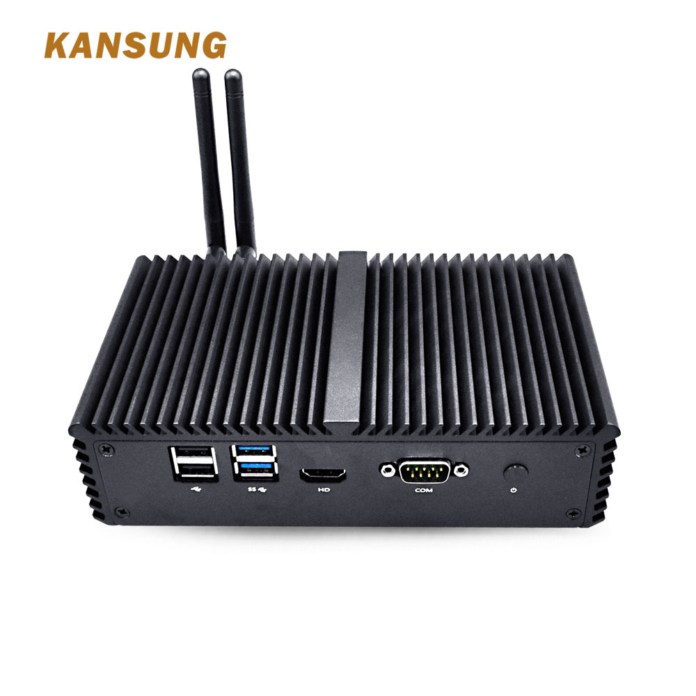 Mini Computer I7 I5 Linux Fanless Mini PC Windows 10 4 Lan Serial Barebone Desktop Computers Computador