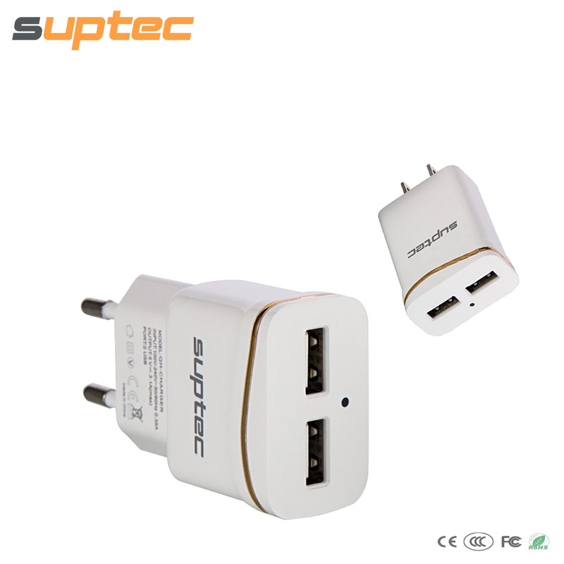 2 Port USB Charger Portable Smart Mobile Phone Charger Travel Adapter Charging for iPhone 7 6 iPad Xiaomi Note Tablet EU US Plug