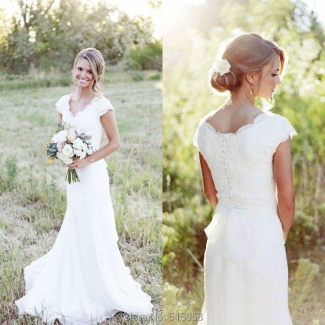 Lace sweetheart wedding dress cap sleeves