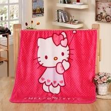 3a1ec6af9 70x100cm Hot Sale Cute Hello Kitty Children Blanket Cartoon Baby Nap Blanket  School Blankets For Kids