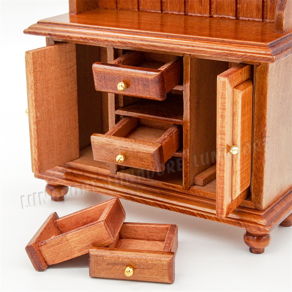 miniature dollhouse furniture woodworking. Odoria 1:12 Miniature Kitchen Cupboard With Working Drawer Wood Cabinet Closet Dollhouse Furniture Accessories-in Toys From \u0026 Hobbies On Woodworking F