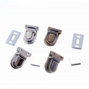 Image 4 - Kostenloser Versand 10 Sets Silber Ton Antiken Bronze Handtasche Tasche Zubehör Geldbörse Snap Verschlüsse/Verschluss Lock 22mm x 34mm