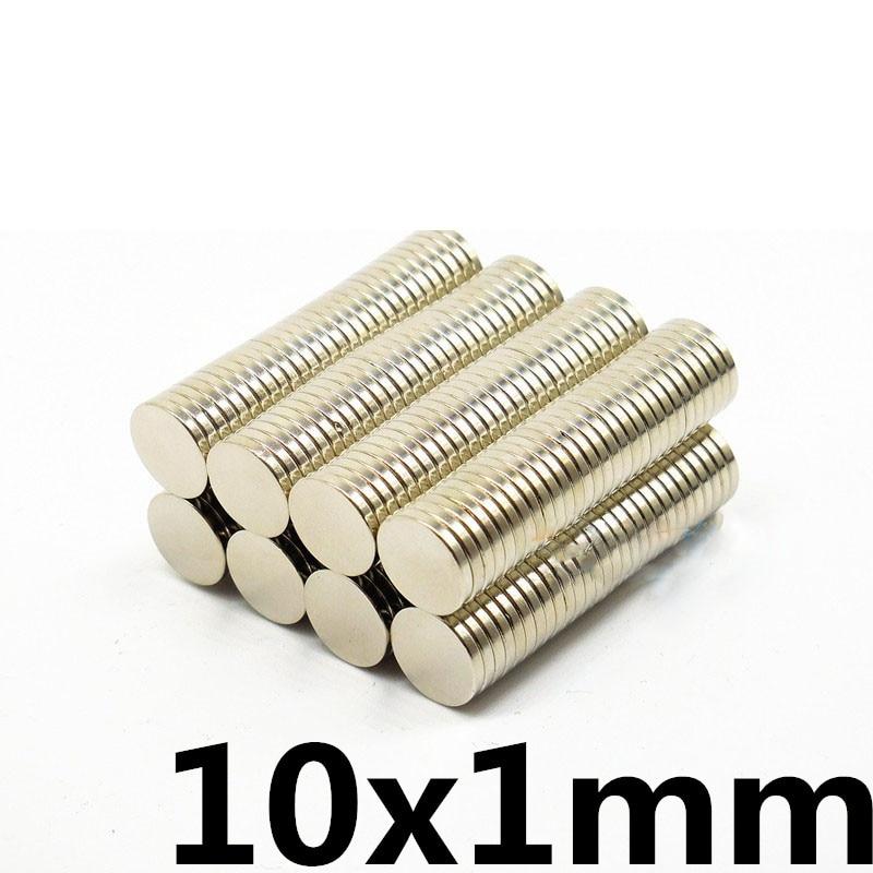 50 шт. 10×1 мм супер сильный редкоземельных диск мм 10 мм x 1 холодильник перманентных магнит 10 * мм 1 Малый круглый неодимовый магнит
