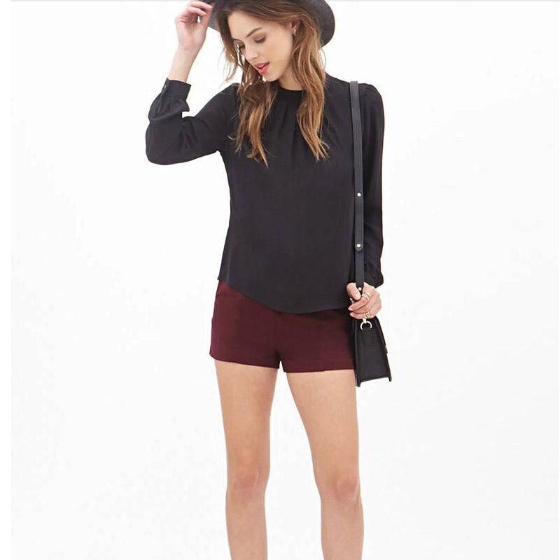 HTB1TzMgHpXXXXbfXXXXq6xXFXXXw - Women Elegant Chiffon Blouses Sexy Blouse Shirt Casual Long Sleeve