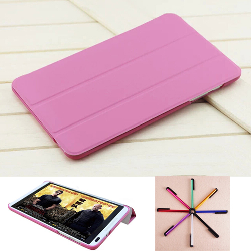 fashion Ultra Slim Folio Leather Case Cover Stand For 8 inch HuaWei MediaPad T1 8.0 T1-821 S8-701U S8-701W Tablet leather cases kefo for google nexus 7 ii 2013 case for tablet 7 inch universal flip leather cover for huawei mediapad t1 7 0 t1 701w t1 701u