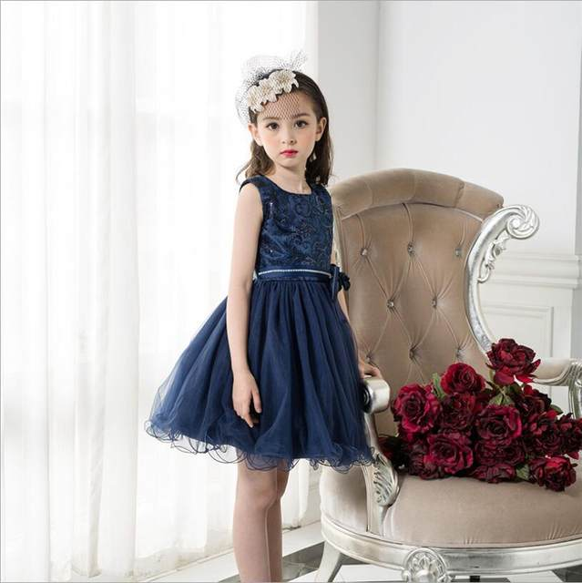 4e4818643b high quality big Girls Dresses BLINGBLING Baby Clothes Princess sequin  party Clothes toddler kids dress summer 3t-10