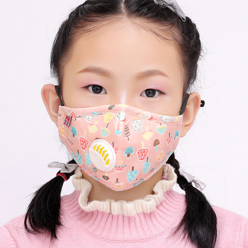 10 Pcs Children Mouth Face Mask Dustproof PM2.5 Breathable Cotton for Outdoor -MX8