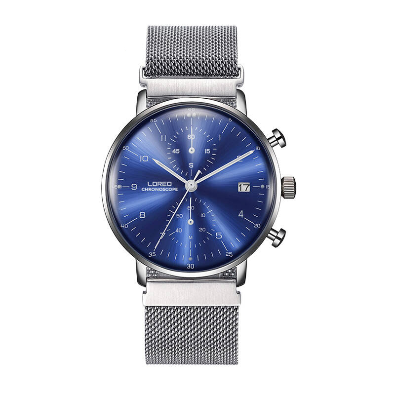 LOREO 6112 Germany watches men luxury brand sapphire water resistant Calendar high temperature resistant luxury fashion watch loreo 6004 germany watches men luxury brand quartz sapphire water resistant 5atm luminous calendar chronograph relogio masculino