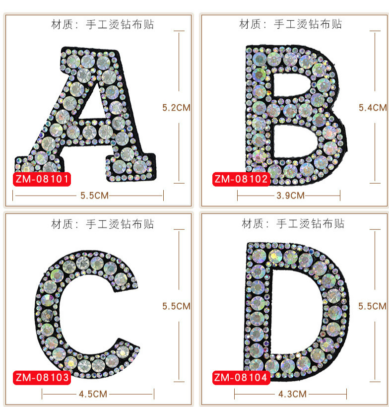 HTB1TzN9QNnaK1RjSZFBq6AW7VXa5 A-Z 1pcs Rhinestone English Alphabet Letter Applique 3D Iron On letters Patch For Clothing Badge Paste For Clothes Bag Shoes