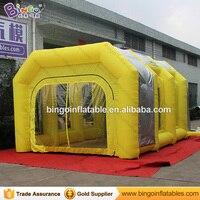 6*4*3 m opblaasbare spray paint booth tent met filtersysteem en Gemengde kleur speelgoed tent