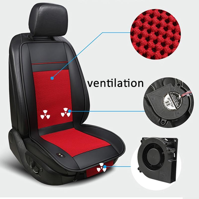 Eerzuchtig Luxe 12 V Zomer Auto Zitkussen Luchtkussen Met Ventilator Zitkussen Autostoel Cooling Vest Koele Zomer Ventilatie Kussen