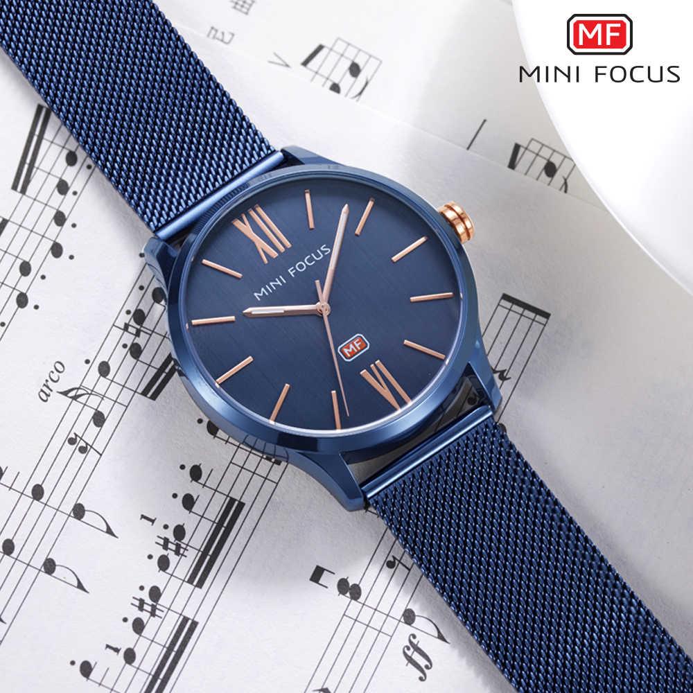 MINIFOCUS montre-bracelet hommes Top marque de luxe célèbre homme horloge Quartz montre-bracelet Quartz-montre Relogio Masculino MF0018G. 04