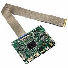 """2 mini hdmi + placa controlador de áudio lcd para 2k controlador lcd kit 13.3 """"lq133t1jw01 edp 40pin 2560x1440 2k lcd kits controlador"""