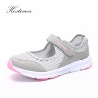 Hosteven Women Shoes Casual Sport Flats Fashion Shoes Walking Spring Summer Loafers Breathable Air Mesh Walking