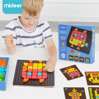 Mideer Mosaic Geometric Pattern Puzzle Wooden and Plastic Children Education Learning Jigsaw Kids Toys