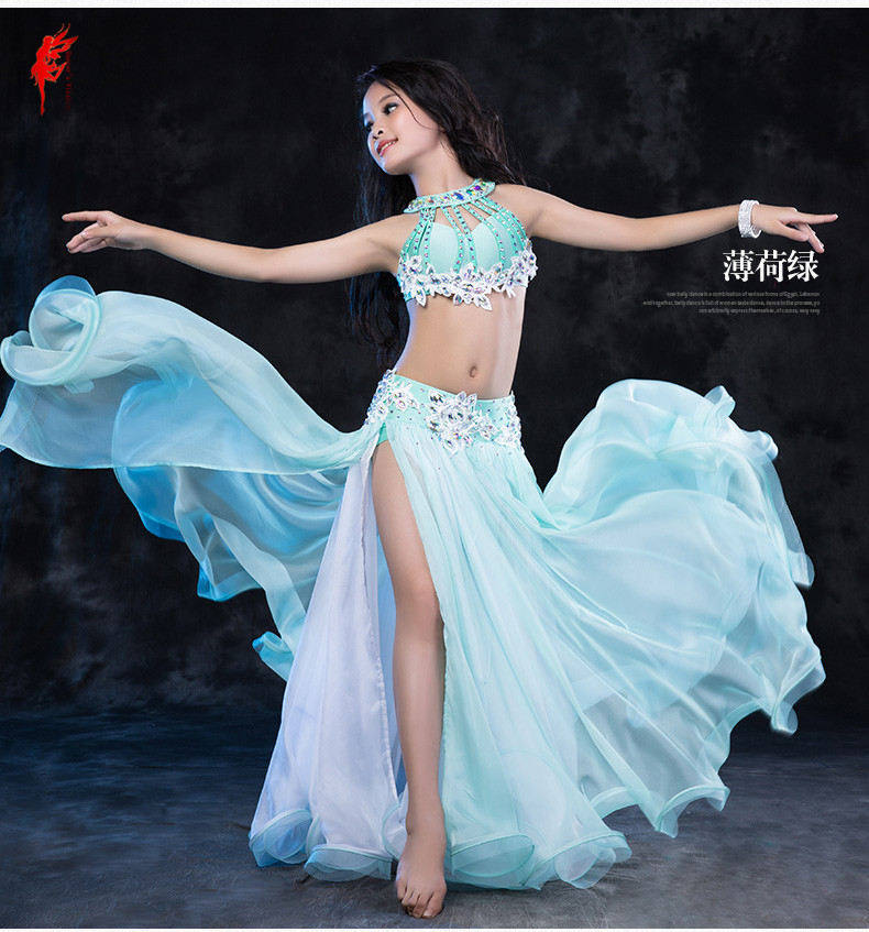 Kids performance belly dance set suit children Elegant belly dance clothes child competition suit S,M,L