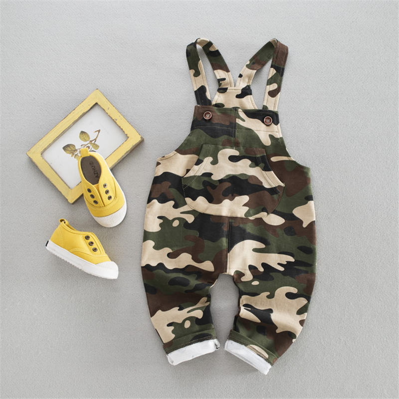 New 2018 Baby Boys Girls Overalls Fashion Children Camouflage Pants Korean Cotton Kids Pants Spring Autumn Baby Boys Trousers