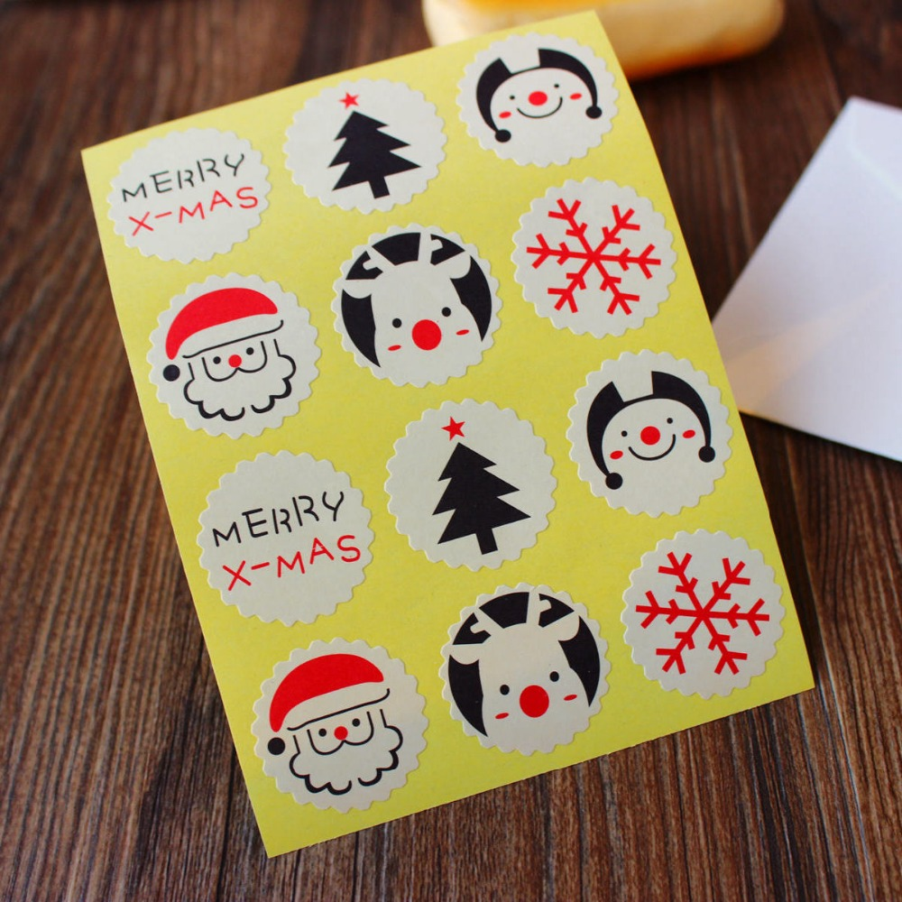 Christmas snowflake sealing stickers, merry christmas gift sticker