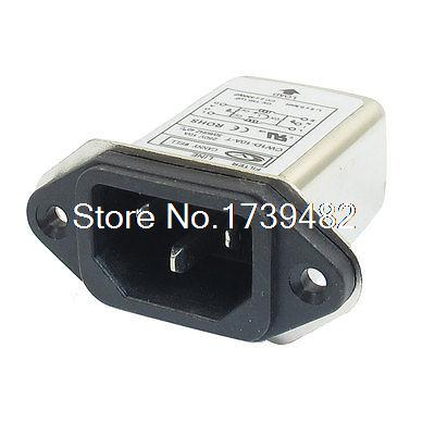 IEC 320 C14 Male Socket Panel Mount Power Line EMI Filter CW1D-10A-T пылесос ghibli power line power t d 36 i combi 15784010001