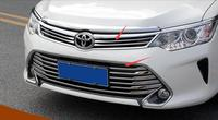 ABS Chrome Front Upper Bottom Grill Grille Trim Strip Cover For Toyota Camry 2015 2016 2017
