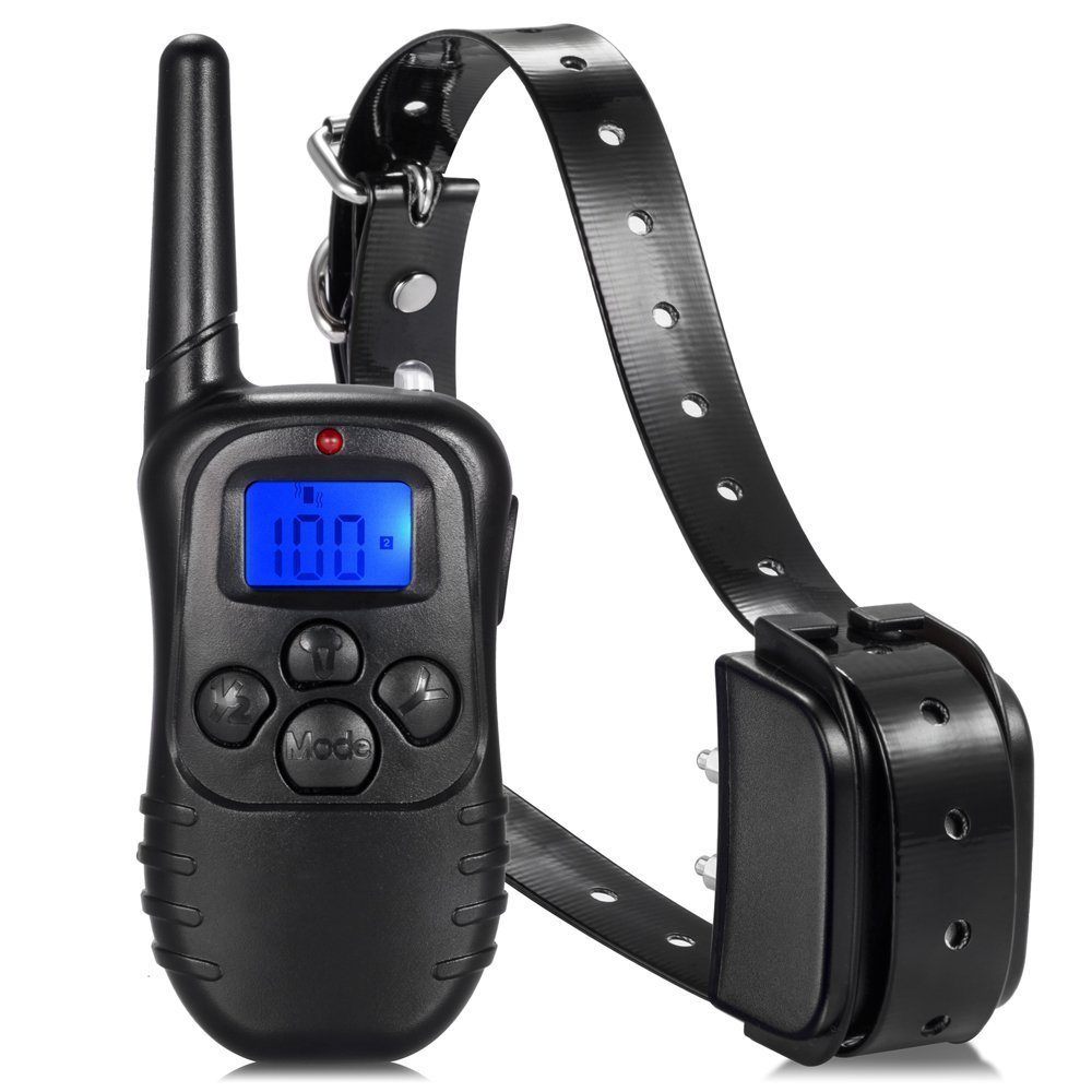 300M Remote Dog Training TPU Collar Rechargeable And Waterproof Vibration Shock Electronic Electric 100Level Anti Bark Control