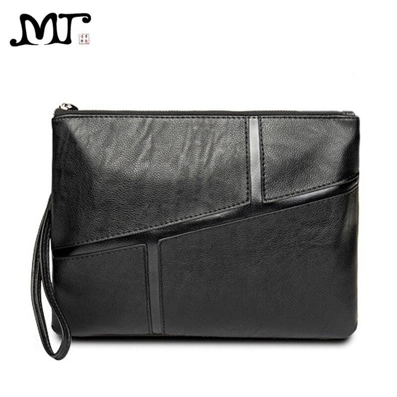 MJ Men's Clutch Bags Soft Leather Clutch Hand Bag Vintage Envelope Big Clutches Male File Bag Zipper Wallet Solid Large Capacity mz15 mz17 mz20 mz30 mz35 mz40 mz45 mz50 mz60 mz70 one way clutches sprag bearings overrunning clutch cam clutch reducers clutch